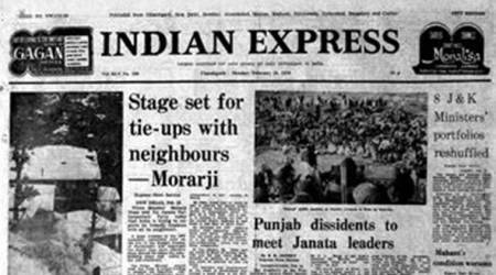 Indian Express Front Page Forty Years Ago, Express Front Page Forty Years Ago, Express Front Page, PM Morarji Desai, Pankaj Mullick dead, Jaya Prakash Narayan retirement, Editorial News, Indian Express, Indian Express News
