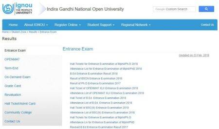 IGNOU released hall ticket/ admit card for M.Phil/Ph.D entrance exams at ignou.ac.in