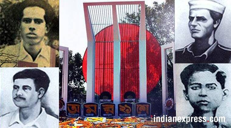 Martyrs of Bengali language movement on February 21, 1952