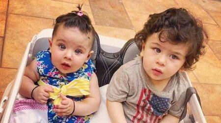Taimur Ali Khan enjoys a car ride with his cousin Inaaya Naumi Kemmu