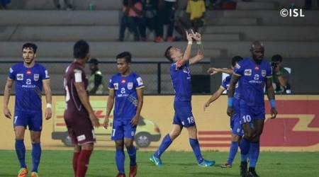 ISL 2017/18: Lucian Goain hands Mumbai last-minute winner over North East United