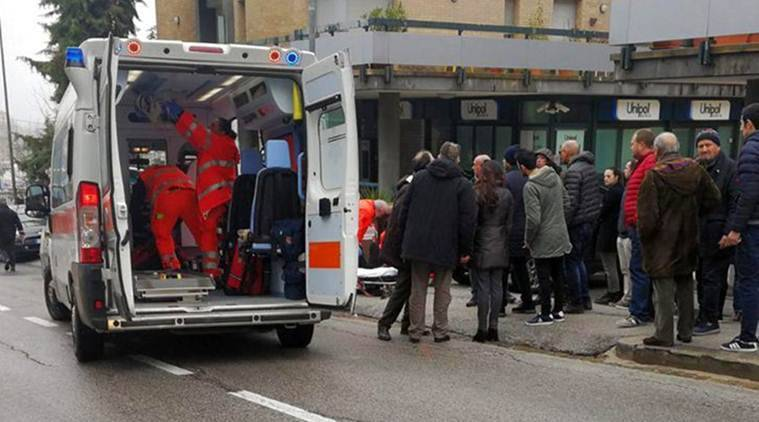 At least six foreigners were badly injured after a man opened fire on passerby in the central Italian city of Macerata on Saturday