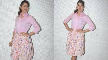 Jacqueline Fernandez nails tone-on-tone like a pro in this all-pink look
