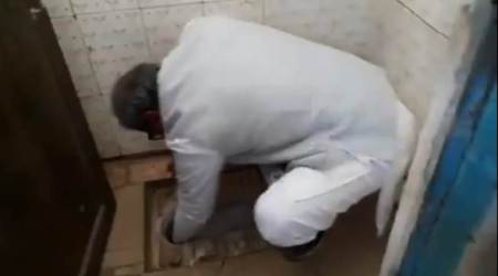 VIDEO: BJP MP cleans clogged school toilet in Madhya Pradesh with bare hands