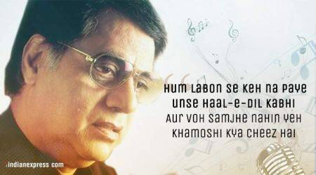 Remembering Jagjit Singh whose name will forever remain synonymous withghazals