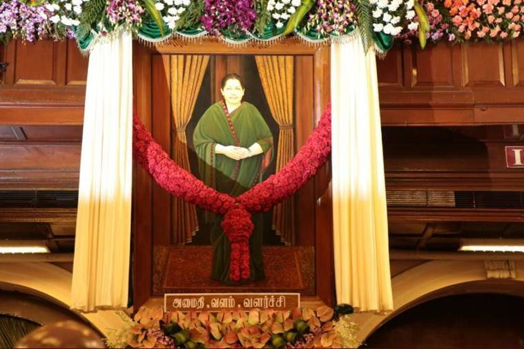 Jayalalithaa portrait in TN assembly
