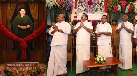 Jayalalithaa's portrait unveiled in TN Assembly, DMK moves court for its removal