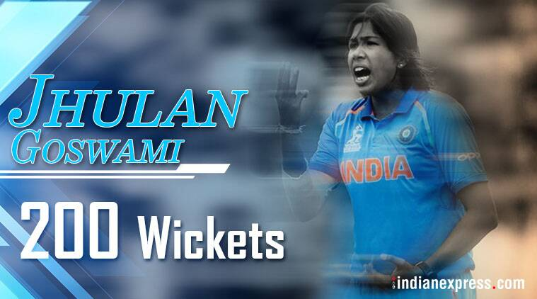 Jhulan Goswami becomes first woman to 200 ODI wickets