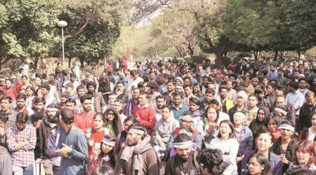 JNU students protest: Police complaint filed by Express reporter