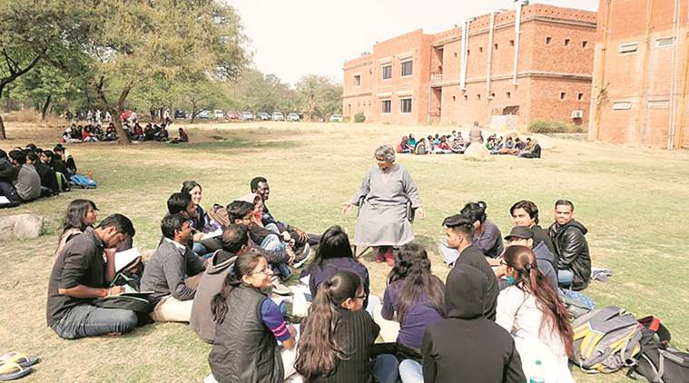 JNU students, teachers stand ground, hold classes in open