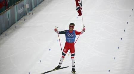 Winter Olympics 2018: Johannes Hoesflot Klaebo clinches majestic relay gold for Norway in cross-country skiing