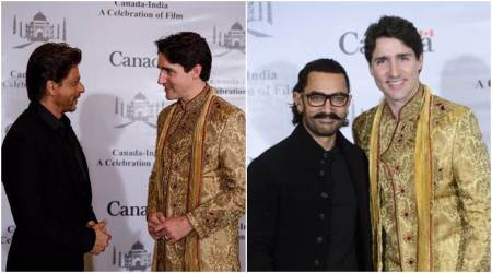 Photos: Shah Rukh, Aamir host Canadian PM Justin Trudeau and family
