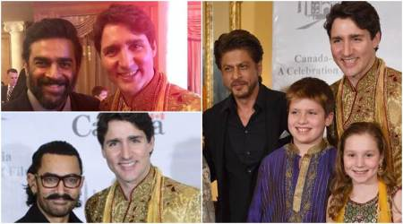 Shah Rukh, Aamir Khan, R Madhavan host Canadian PM Justin Trudeau and family, see photos