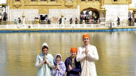 Justin 'Singh' Trudeau visits Golden Temple in Amritsar