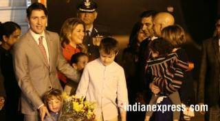 Canadian PM Justin Trudeau arrives in India