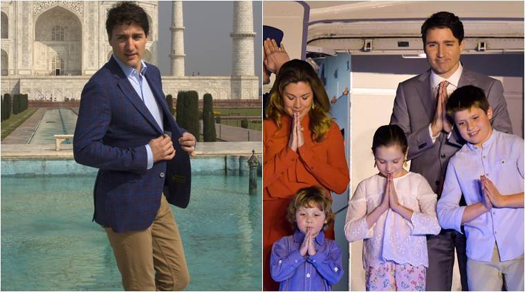 Canadian Prime Minister Justin Trudeau Family Visit Taj Mahal India News The Indian Express