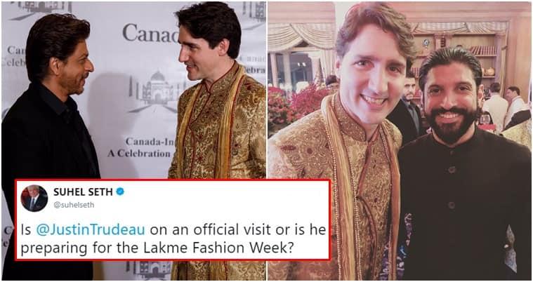 Justin Trudeau, Trudeau in India, Justin Trudeau in India, Justin Trudeau Indian wear in India, Justin Trudeau Indian wear, Omar Abdullah twitter, Omar Abdullah tweets, Shobhaa De, Shobhaa De Twitter, Shobhaa De tweets, Shobhaa De on Justin Trudeau, Indian Express, Indian Express news