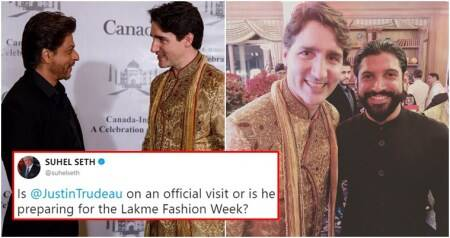 'Manyavar ad' to 'Bollywood extra': Justin Trudeau's wardrobe gets a thumbs-down from Twitterati