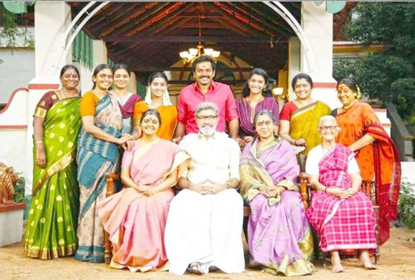 Karthi, Sayyeshaa and Priya Bhavani Shankar on sets of