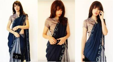 Kalki Koechlin's linen sari look is a lesson in 'easy but trendy'styling