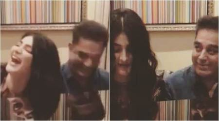 Watch: Kamal Haasan and Shruti jam together in an adorable video