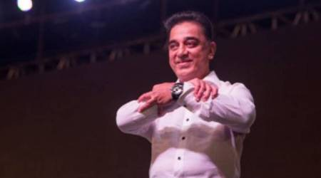Kamal Hassan at the launch of his party 'Makkal Needhi Maiam'.