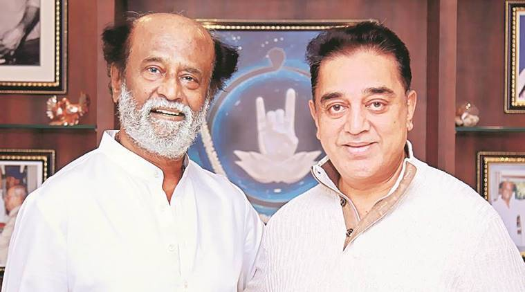 File photo of Rajinikanth and Kamal Haasan