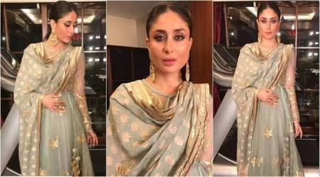 Kareena Kapoor Khan's mint anarkali is a perfect pick for a sangeet night