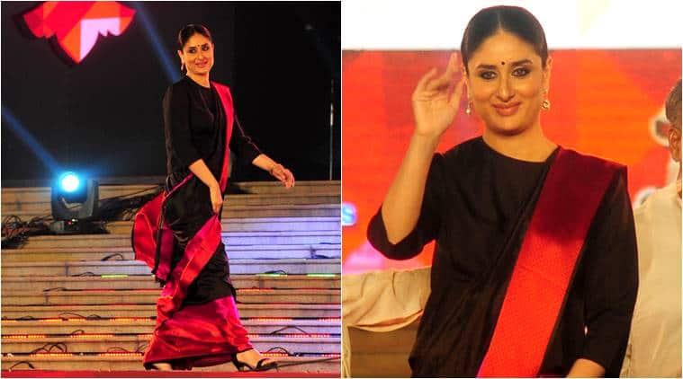 Kareena Kapoor, Kareena Kapoor Khan, Kareena Kapoor black Raw Mango sari