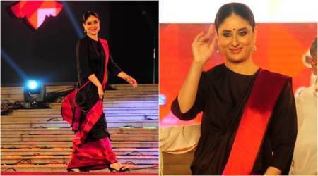 Kareena Kapoor Khan is the epitome of elegance in a black Raw Mango sari