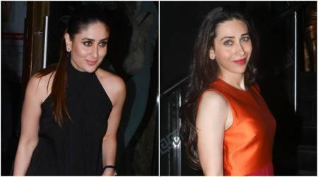 Kareena Kapoor Khan's all-black outfit or Karisma Kapoor's colour-block dress: Which look do you prefer?