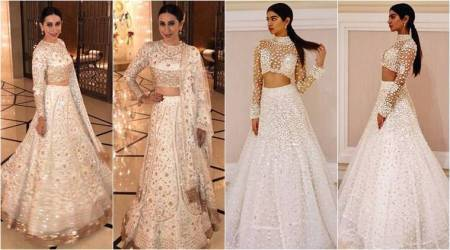 Gorgeous in white: Karisma Kapoor, Khushi Kapoor keep it trendy in Manish Malhotra lehengas