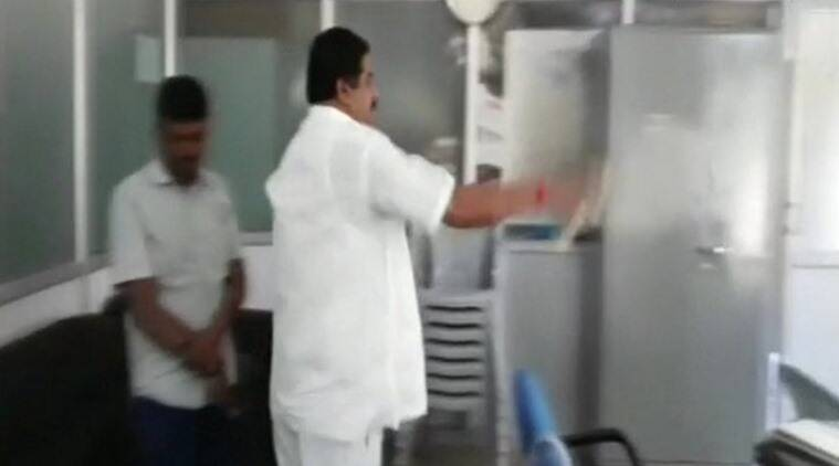 Bengaluru Cong leader splashes petrol inside govt office, threatens fire