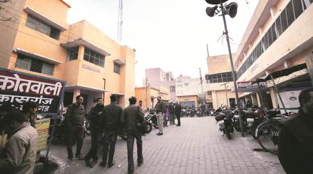 300 meters away from Kasganj violence spot, one police station with 100 cops for one lakh people