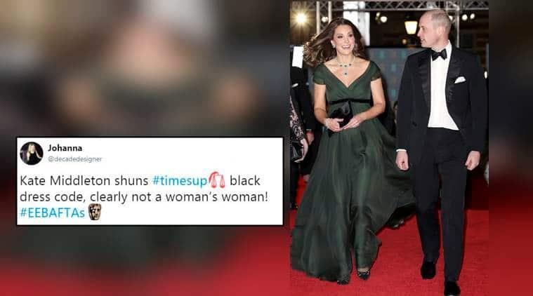 Bafta 2018 Kate Middleton Does Not Wear Black Twitterati Feel She