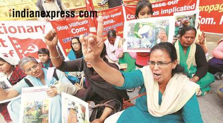 We want to live: Wife of Kerala murder victim protests outside CPM office in Delhi, 5 yrs on