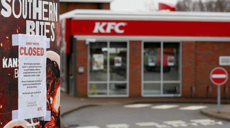 KFC, KFC closed, kentucky fried chicken, KFC outlets closed london, fried chicken, KFC closed uk, DHL, chicken shortake, chicken shortage in uk, world news, indian express news