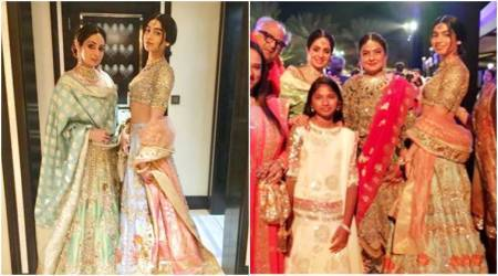 Khushi Kapoor and Sridevi glam up in gorgeous pastel lehengas at Mohit Marwah's wedding
