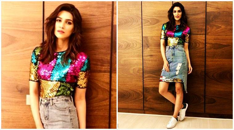 kriti sanon, celeb fashion, kriti sanon fashion, kriti sanon skirt, kriti sanon designer dress, kriti sanon style, indian express, indian express news