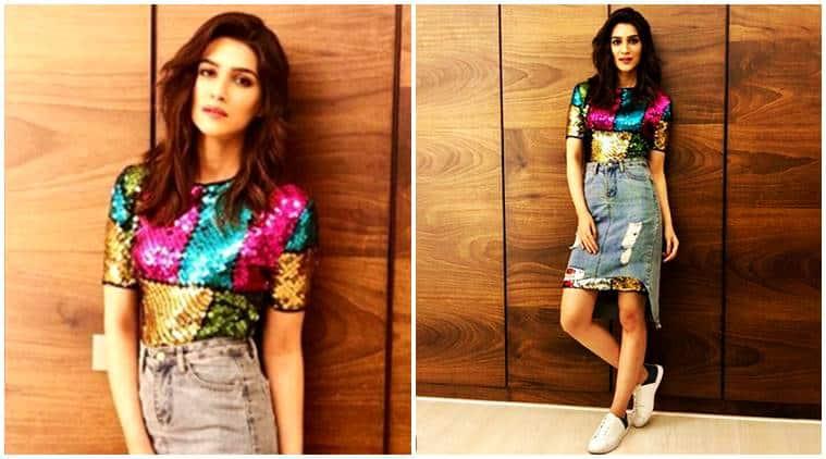 kriti sanon, celeb fashion, kriti sanon fashion, kriti sanon skirt, kriti sanon designer dress, kriti sanon style, indian express, indian express news