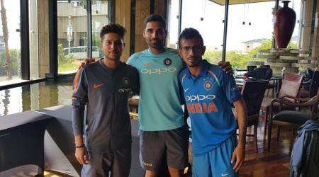 WATCH: Birthday boy Bhuvneshwar Kumar in conversation with 'spin twins' Kuldeep Yadav, Yuzvendra Chahal
