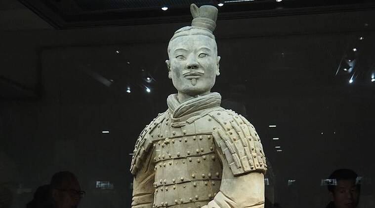 terracotta warrior thumb thief, terracotta warrior, philadelphia museum, philadelphia museum thief, thumb thief, bizarre news, bizarre stories, bizarre viral stories, Indian Express, Indian Express news