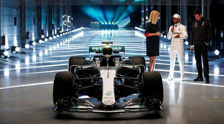 First look at Lewis Hamilton's new 2018 Mercedes F1 vehicle