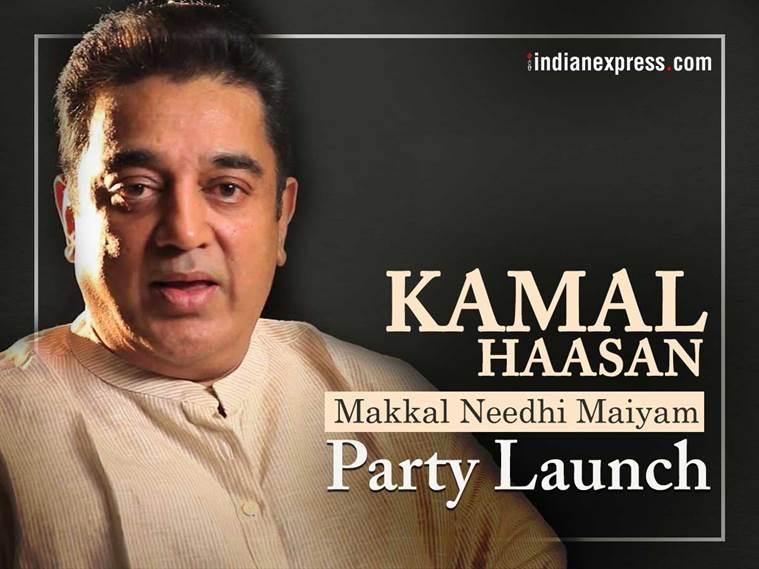 Kamal Haasan launches Makkal Needhi Maiyam party