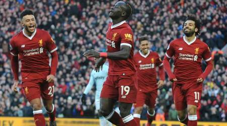 Liverpool passes century of goals with 4-1 win over West HamUnited