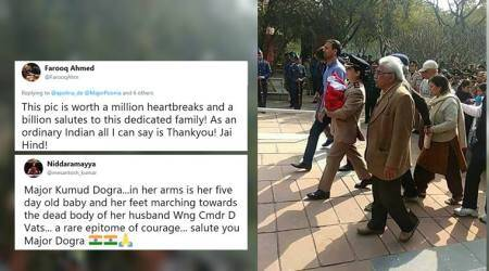 IAF chopper crash: This army officer's photo with her newborn at her husband's funeral has left everyone teary-eyed