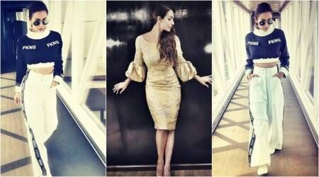 Funky athleisure to elegant gold: Malaika Arora nails two trendy looks in less than a week