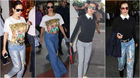 Malaika Arora shows you how to experiment with blue denimjeans