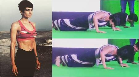 VIDEO: 45-yr-old Mandira Bedi proves age is just a number by working out in asari
