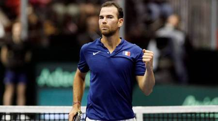 Davis Cup: Adrian Mannarino beats Robin Haase to put France into quarter-finals